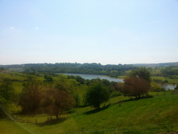 View down Rudyard Lake