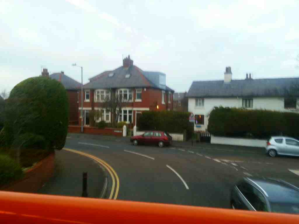68 bus on an S bend Gordon Rd St Annes