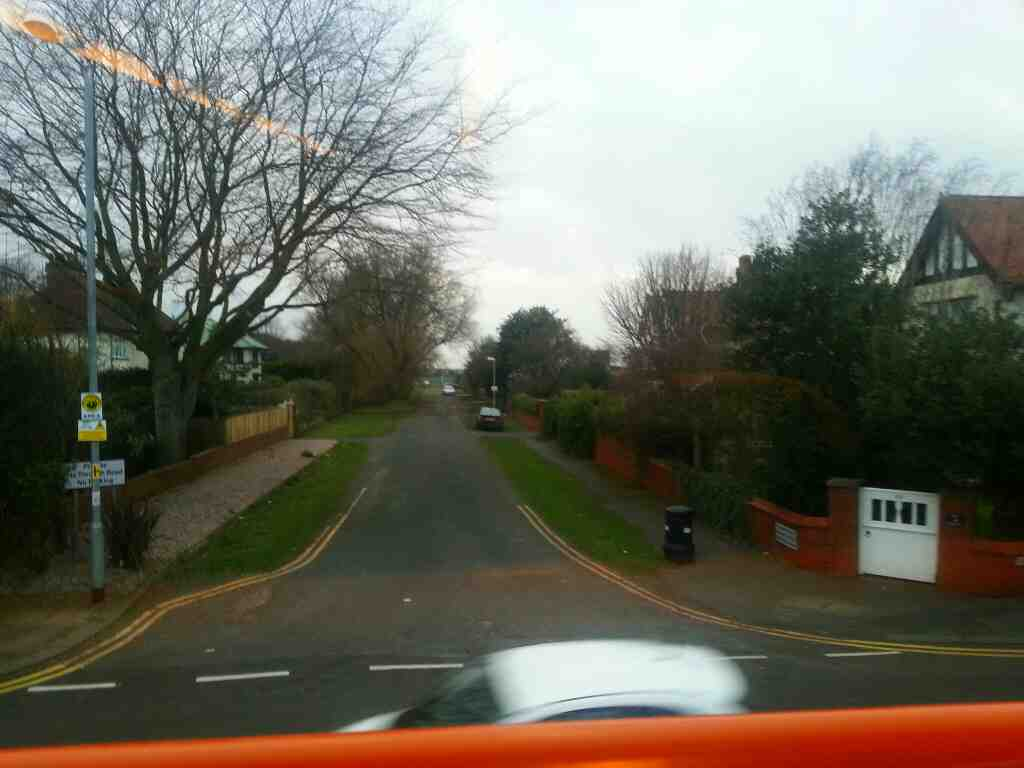 Junction of Central Drive an Worsley Rd Lytham St Annes on a 68 bus