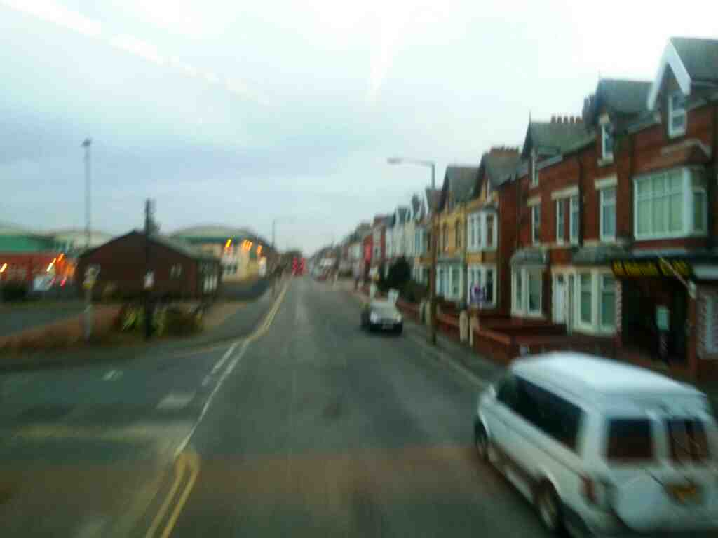 Junction of St Albans Road and Trafalgar Street Lytham St Annes Lancashire on a 68 bus