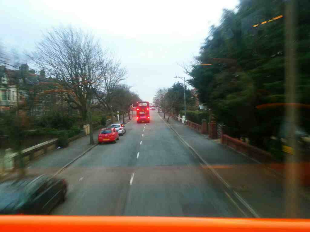 St Annes Rd Lytham St Annes on a 68 bus
