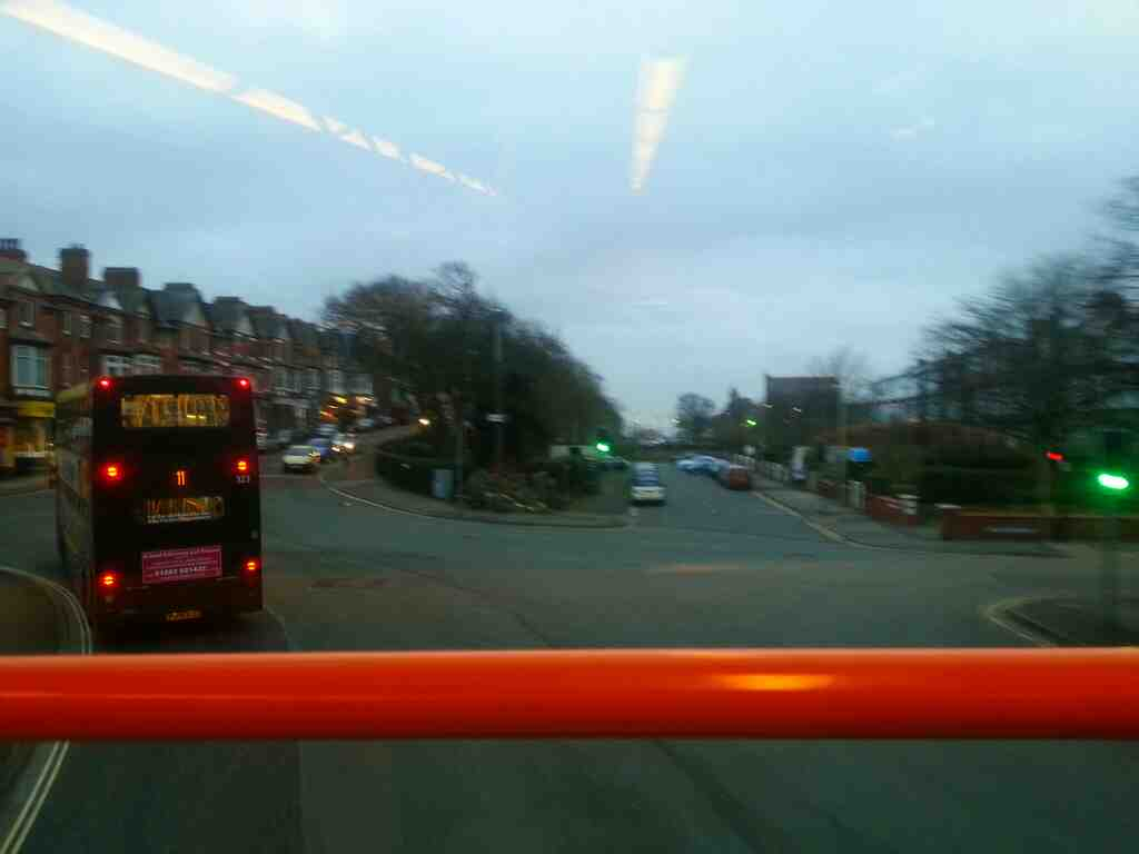 Cutting across from St Annes Road East to The Crescent St Annes on Sea Lancashire on a 68 bus