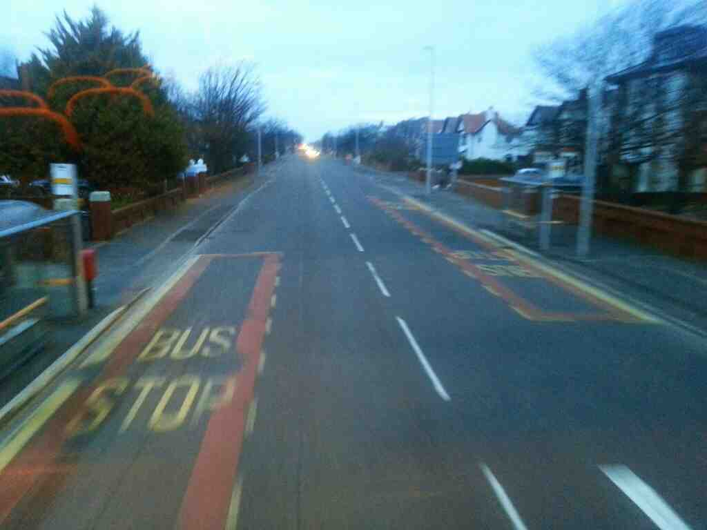 Lytham Rd Blackpool Lancashire on a 68 bus