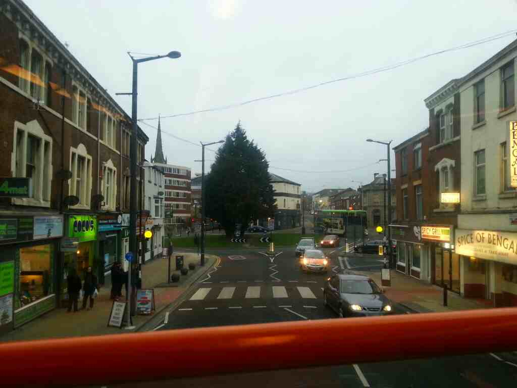 Approaching the Adelphi Quarter on Friargate Preston on a 68 bus