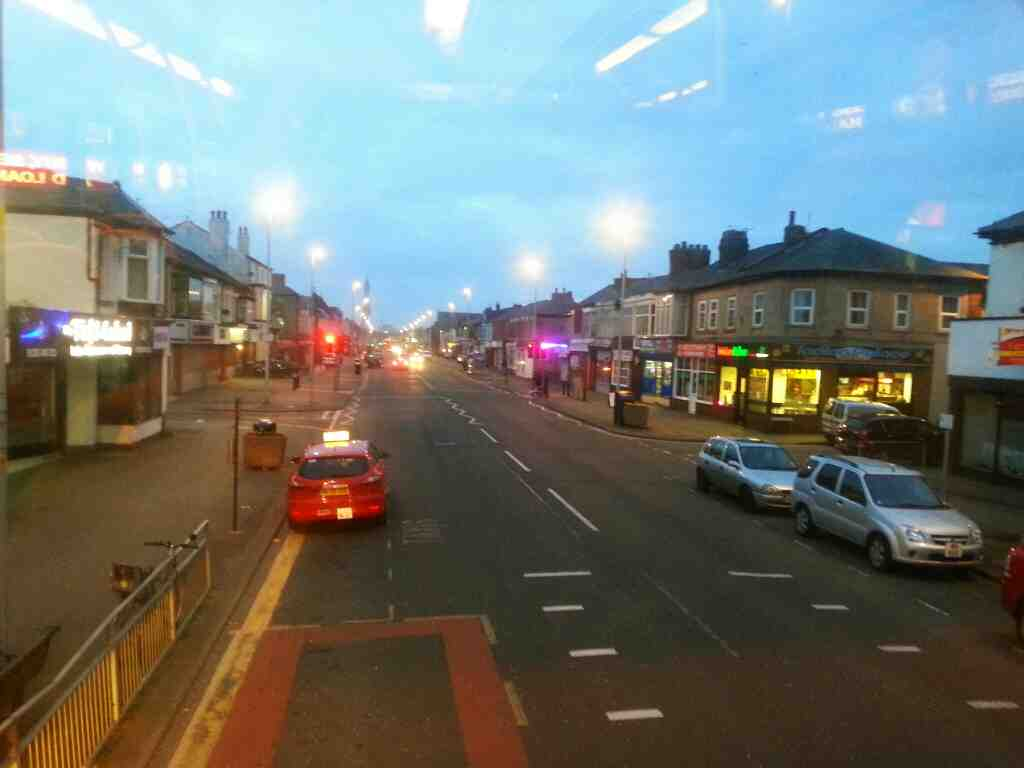 Heading into Blackpool on Lytham Rd on a 68 bus
