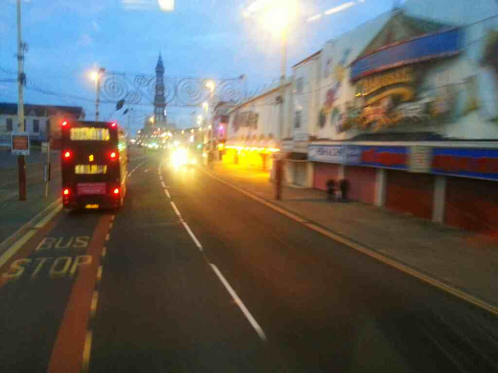 Passing Central Pier Blackpool on a 68 bus