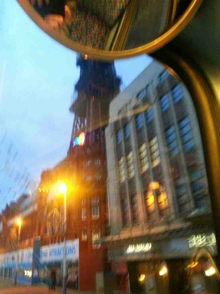 Blackpool Tower from a 68 bus