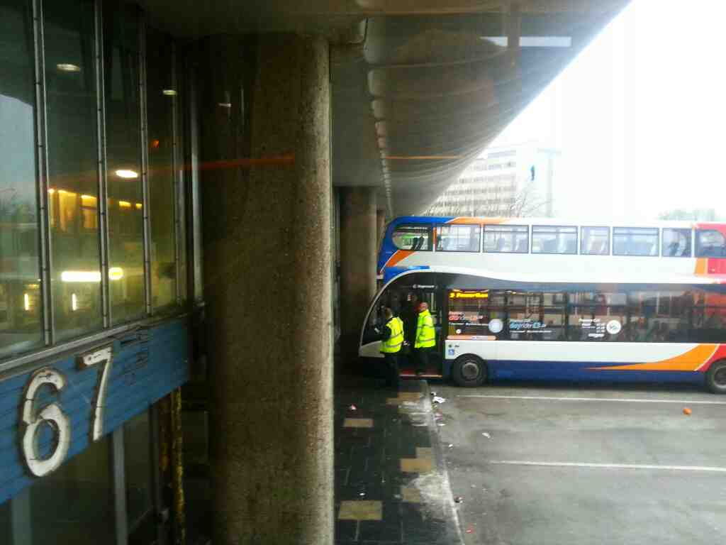 buses in Preston bus station