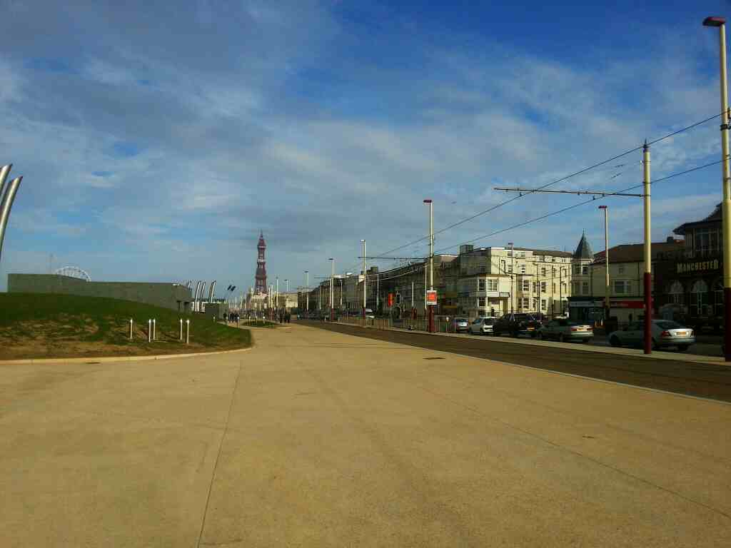 Blackpool tower as seen from Central Promanade