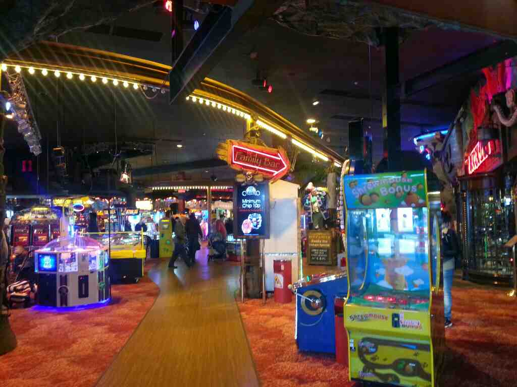 Inside the Coral Island Amusement Arcade Blackpool
