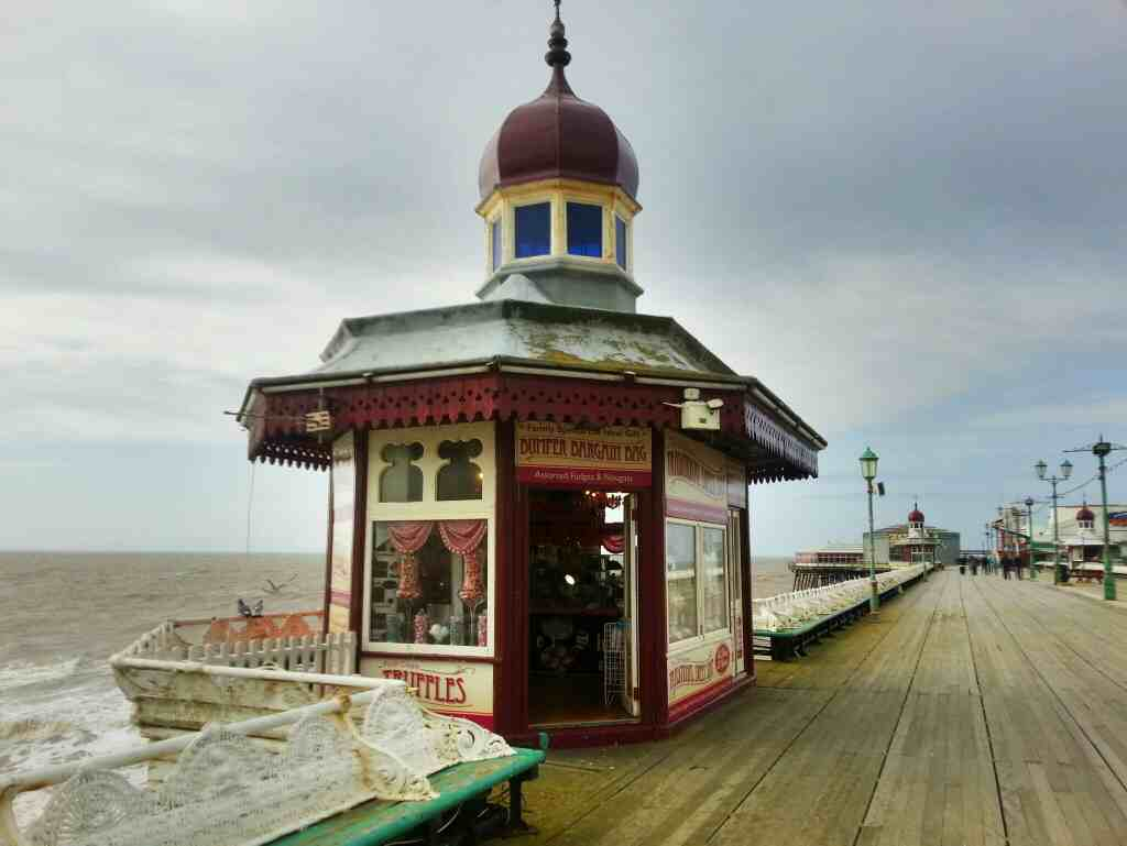 The old fashioned traditional Sweet Shop Blackpool North Pier
