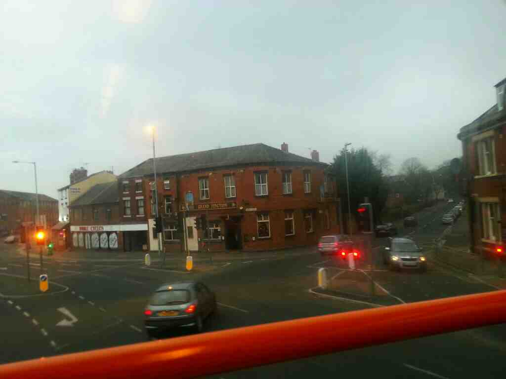 Junction of Water Lane and Tulketh Rd on a 68 bus