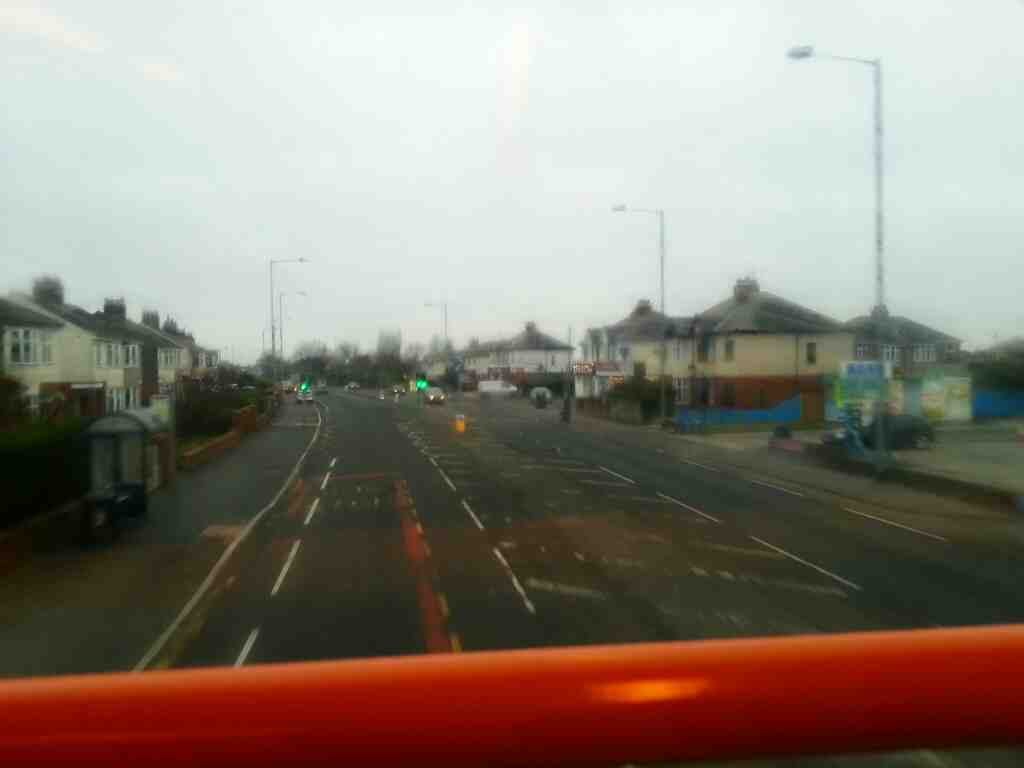 Blackpool Road the A5085 on 68 bus