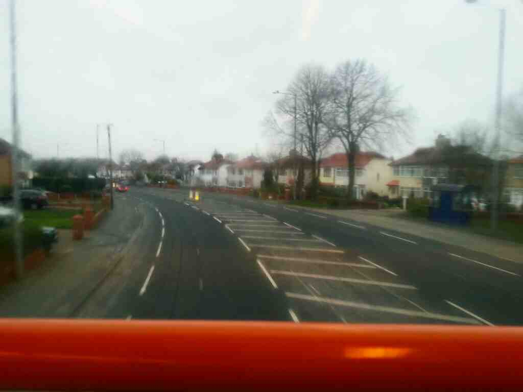 Flying along Blackpool Rd Preston on a 68 bus