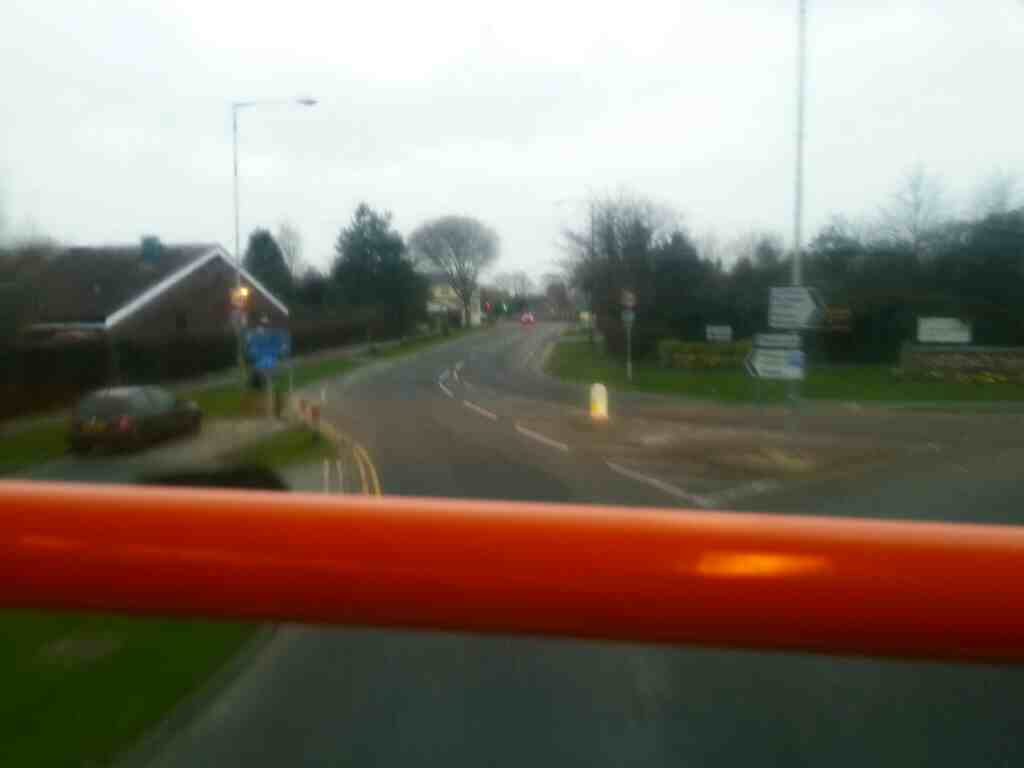 Turning off the A584 onto Lytham Rd Freckleton on a 68 bus