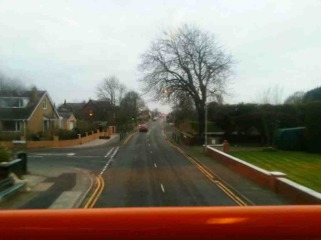 Junction of Lamaleach Drive and Lytham Road passing on a 68 bus