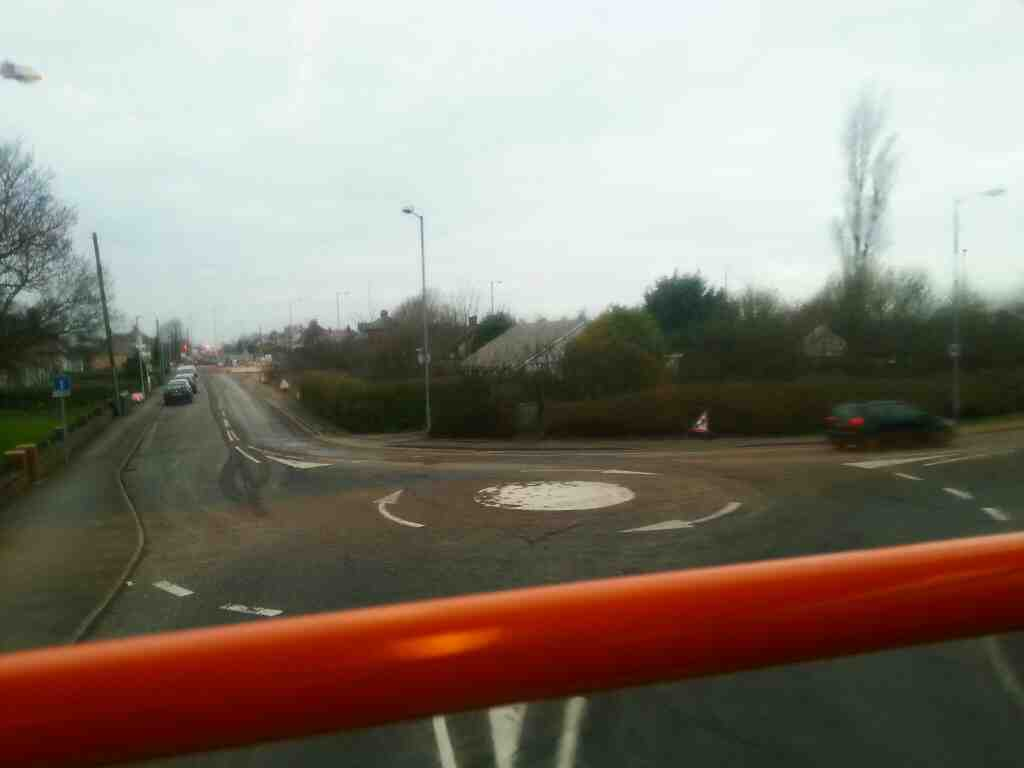 Mini roundabout Lytham Rd Freckleton at western end of Freckleton bypass