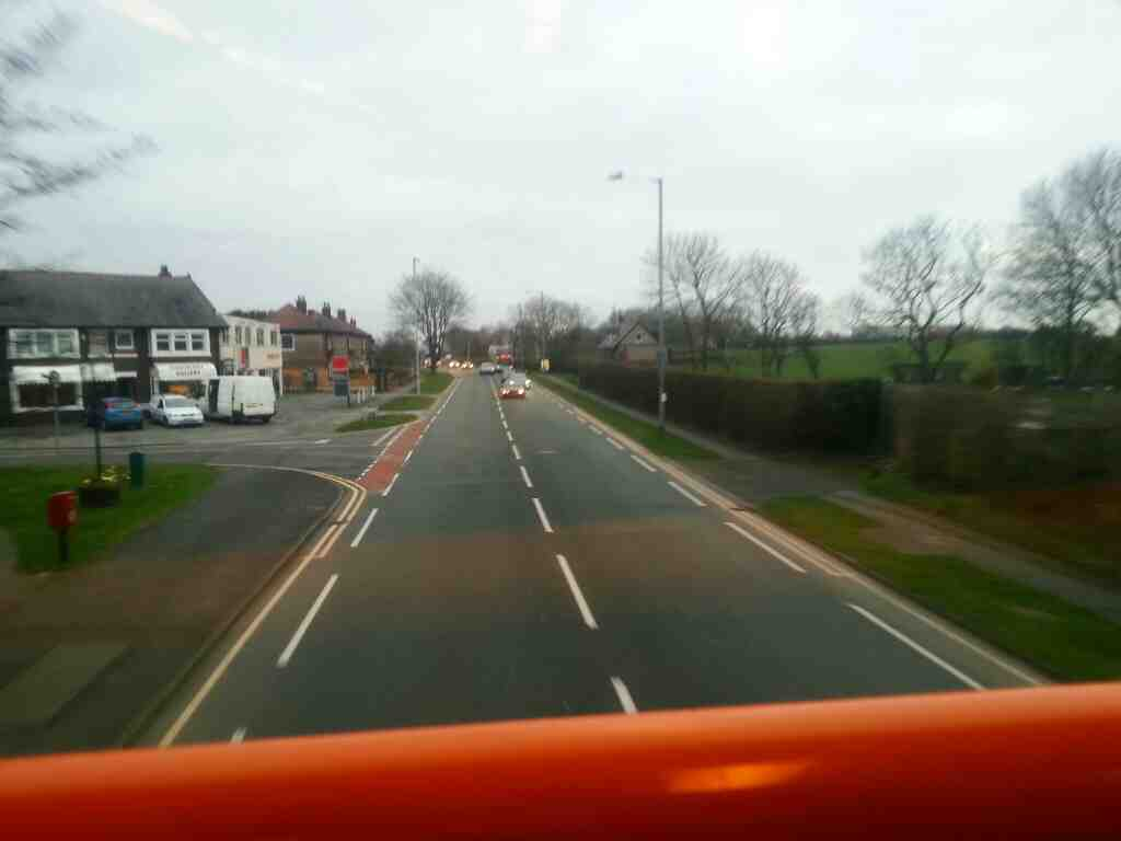 Junction of Bank Lane and Lytham Rd Warton passed on a 68 bus