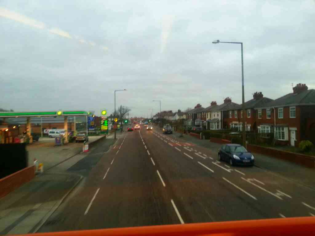 Heading into Lytham St Annes on Preston Rd on a 68 bus
