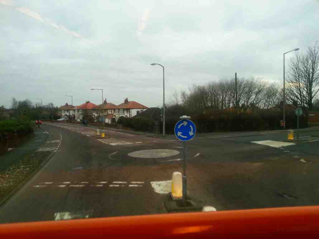 Junction of Preston Rd and Saltcotes Rd Lytham St Annes on a 68 bus