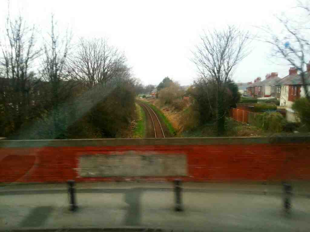 Crossing the Preston to Blackpool South railway line on Saltcotes Rd Lytham
