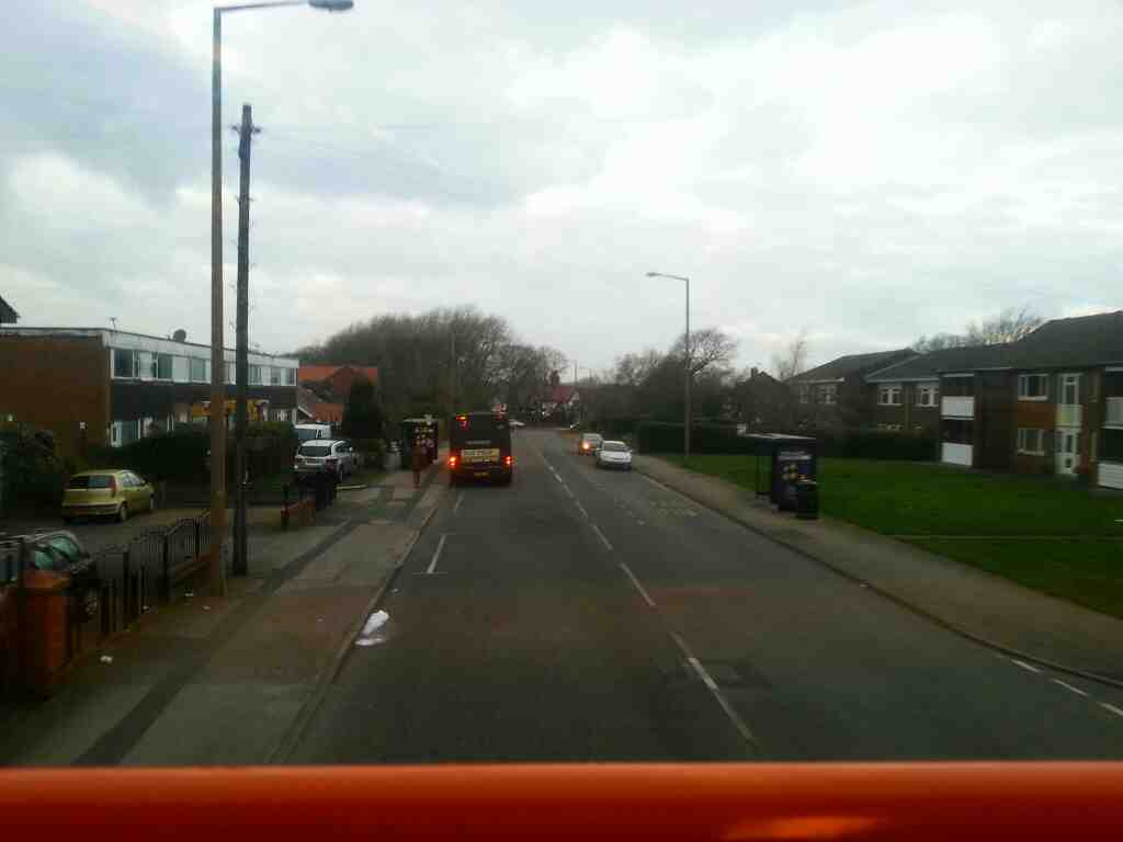Saltcoates Rd Lytham on a 68 bus