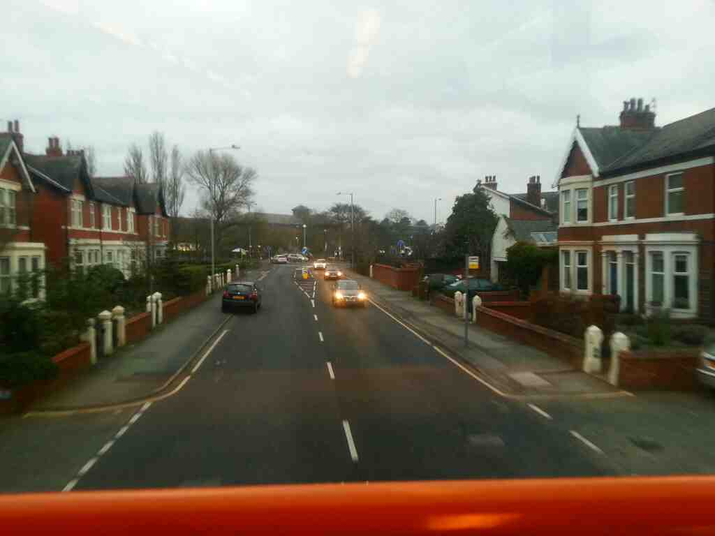 Approaching the western end of Mythop Rd Lytham on a 68 bus