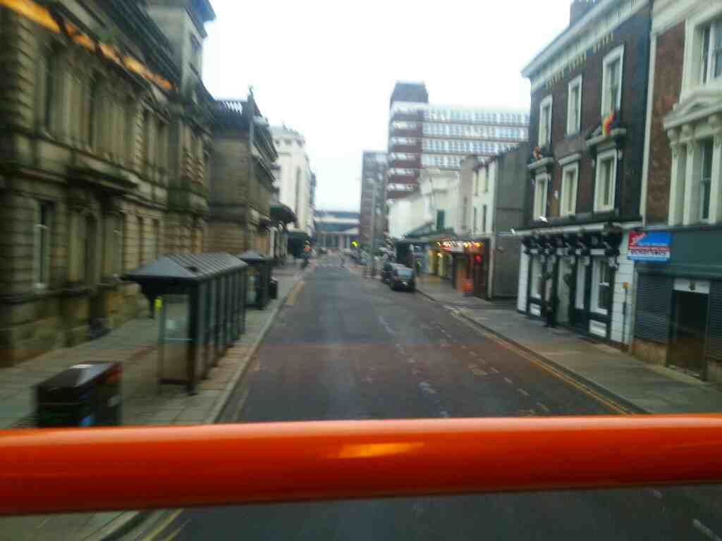 Lancaster Rd Preston town centre on a 68 bus