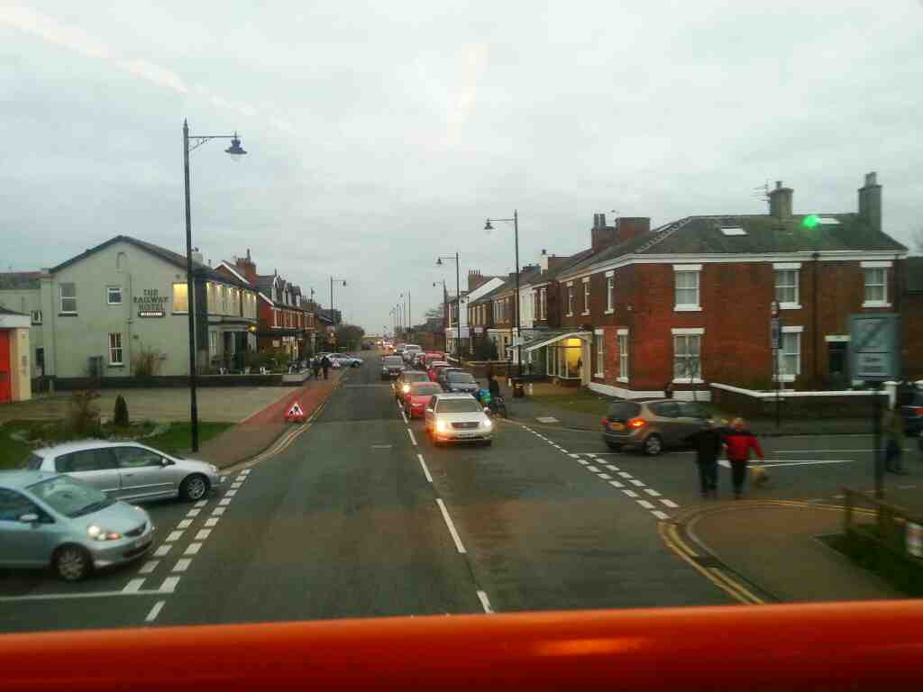 on a 68 bus Park View Rd Lytham passing the Railway Hotel