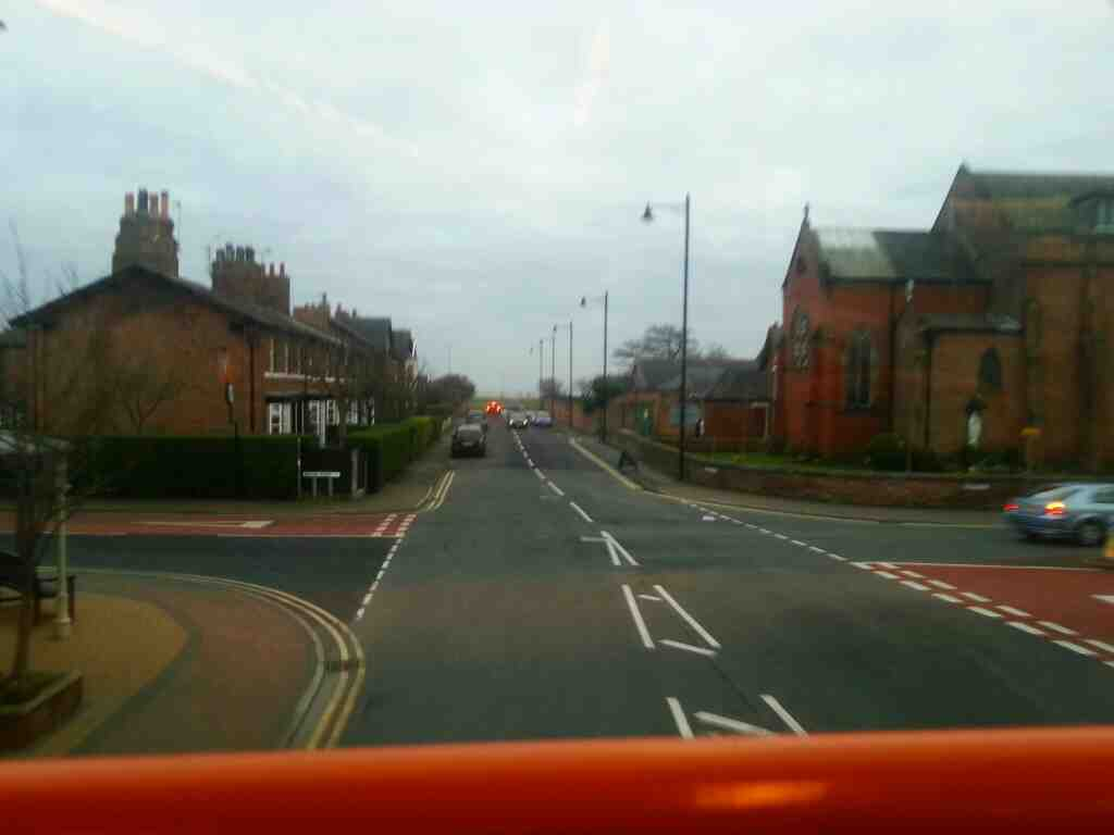 junction of Station Rd and Clifton St Lytham on a 68 bus