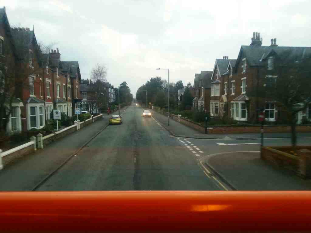 Church Rd Lytham on a 68 bus Passing the end of Cecil St