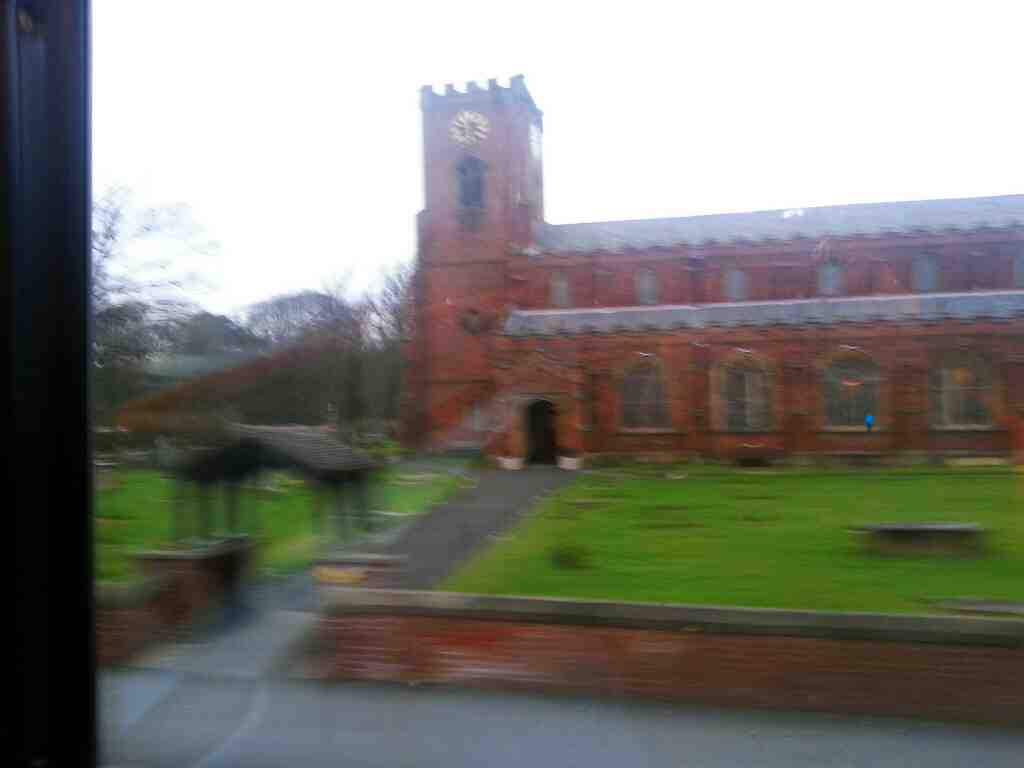 Passing the Parish Church of Lytham St Cuthberts