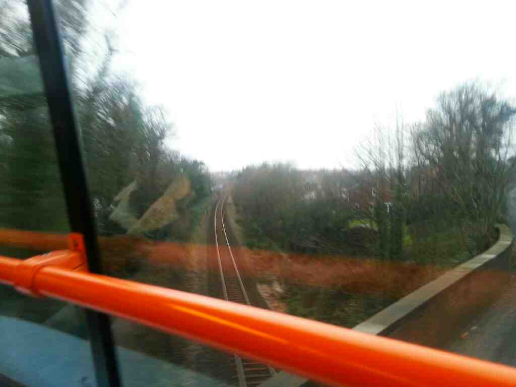 Crossing the Preston to Blackpool South railway on Blackpool Rd between Lytham and St Annes on a 68 bus