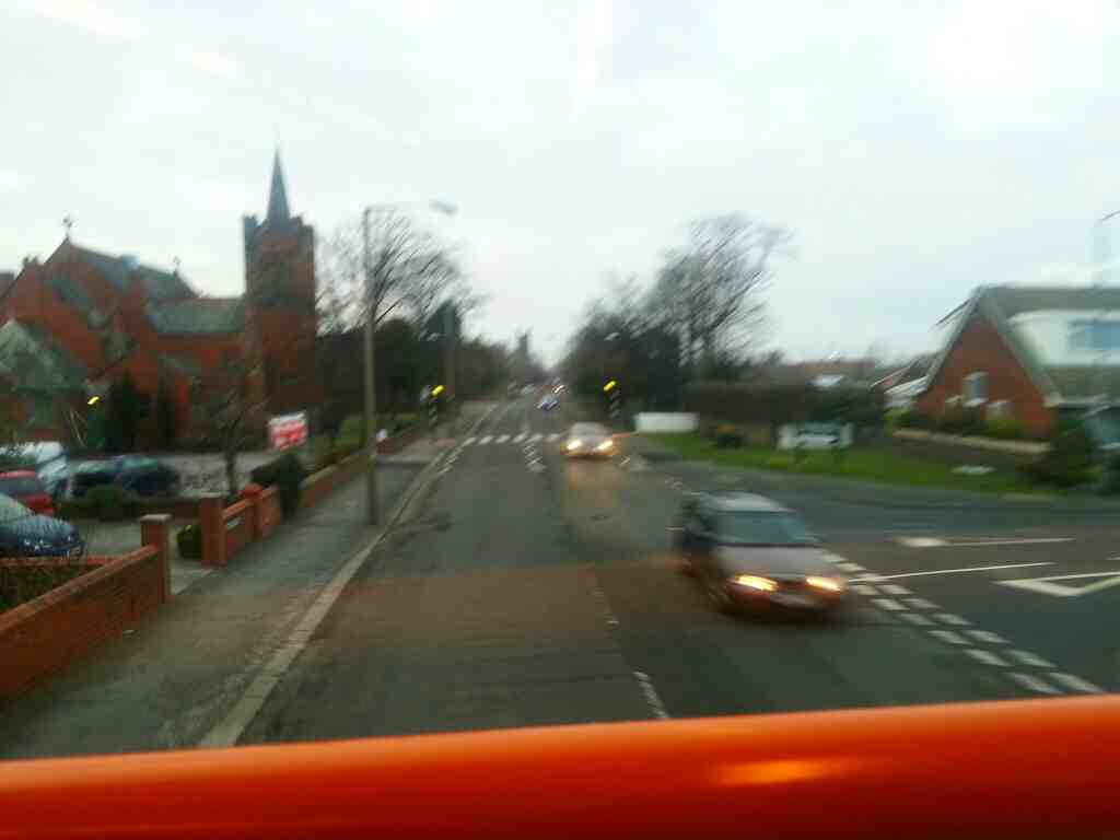 Junction of Blackpool Road and Forest Drive from a 68 bus