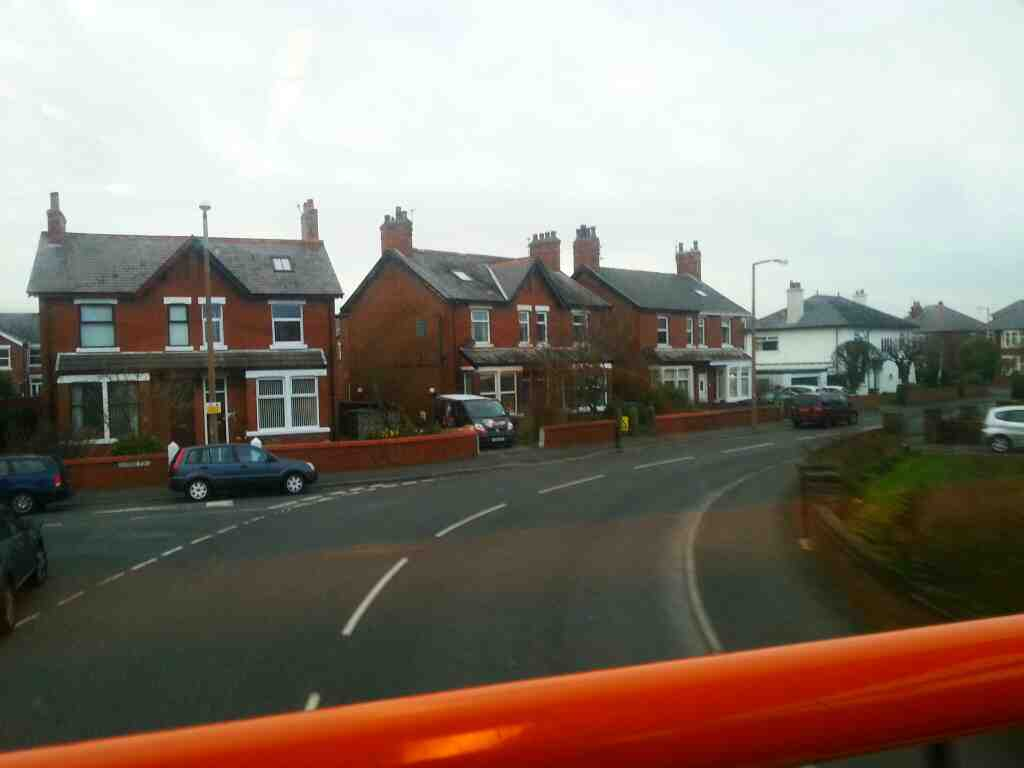 S bend Gordon Rd Lytham St Annes on a 68 bus
