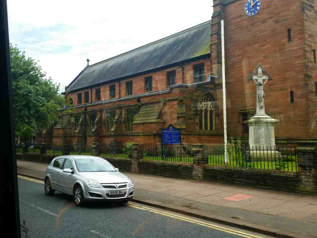 Passes Our Lady and St Josephs Church Warwick St Carlisle on a 685 Carlisle Newcastle