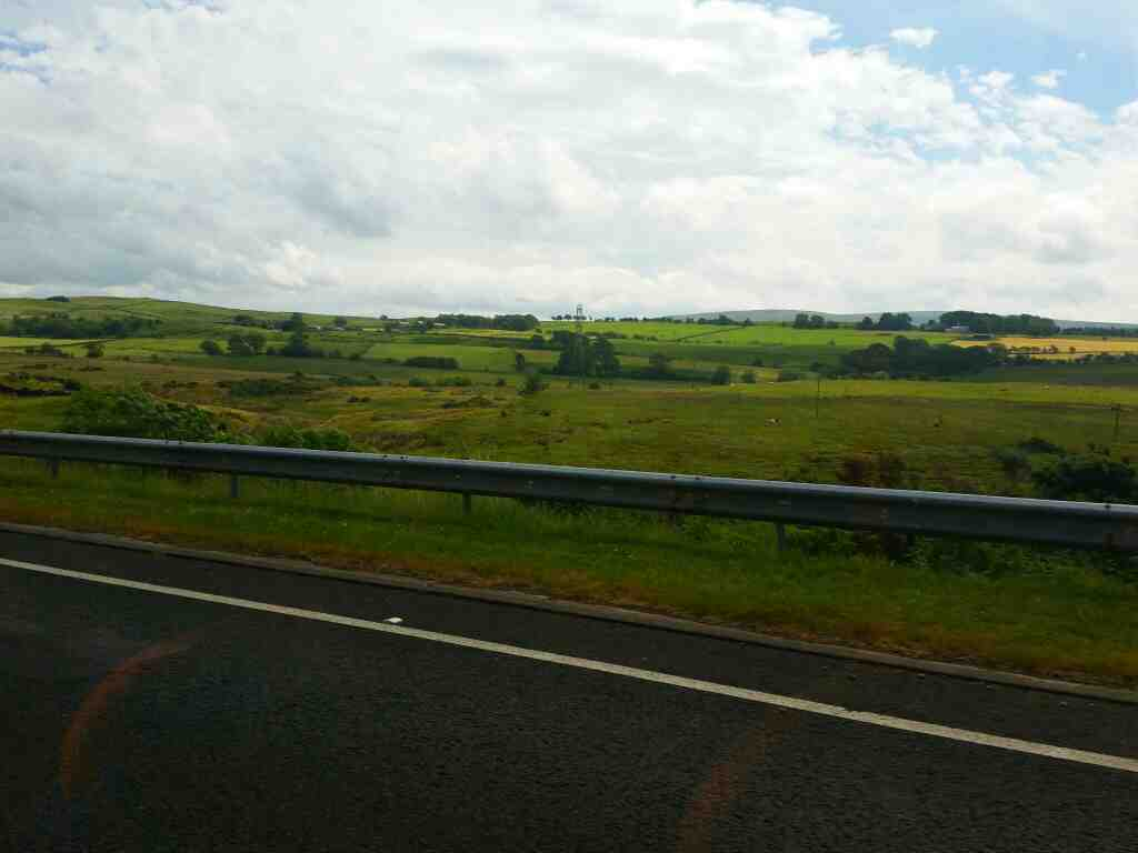 Scenery on the A69  east of Brampton on a 685 Carlisle Newcastle bus