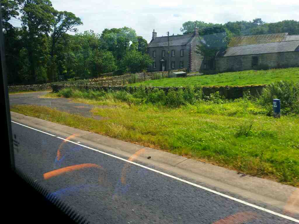 Making our way ever eastwards on the A69 on a 685 Carlisle Newcastle bus
