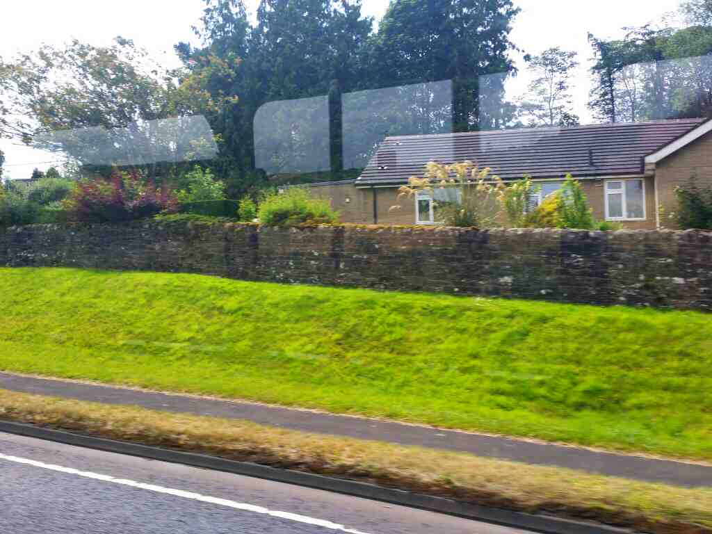 Heading along the A69 between Greenhead and Haltwhistle on a 685 Carlisle Newcastle bus