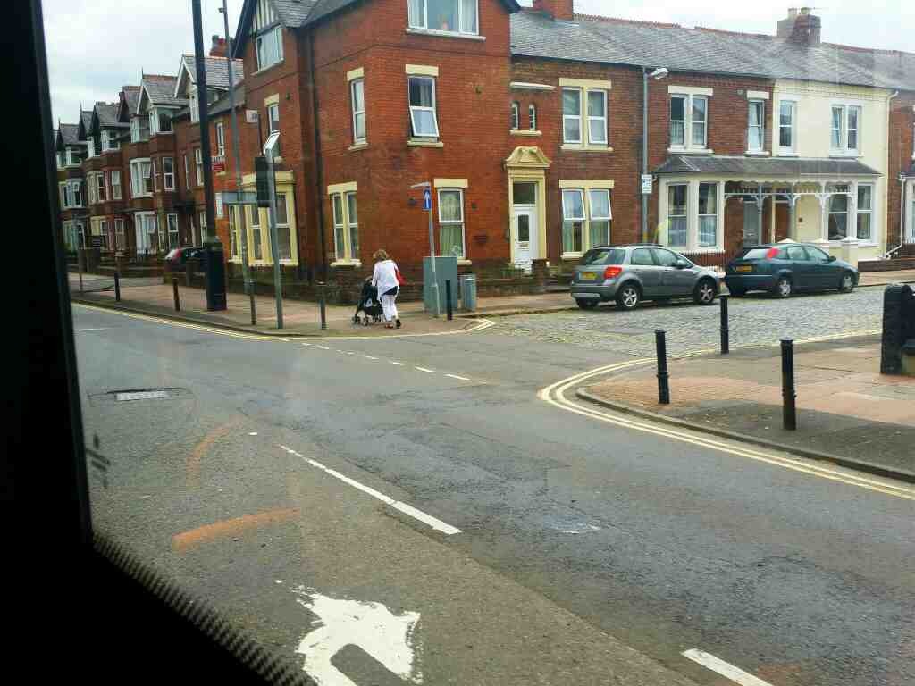 Junction of Warwick Rd and Petteril St Carlisle on a 685 Carlisle Newcastle