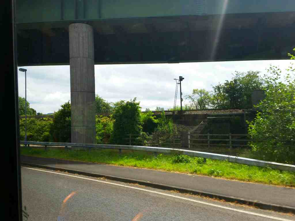 Passing under the Haltwhistle bypass A69 on 68 on a 685 Carlisle Newcastle bus