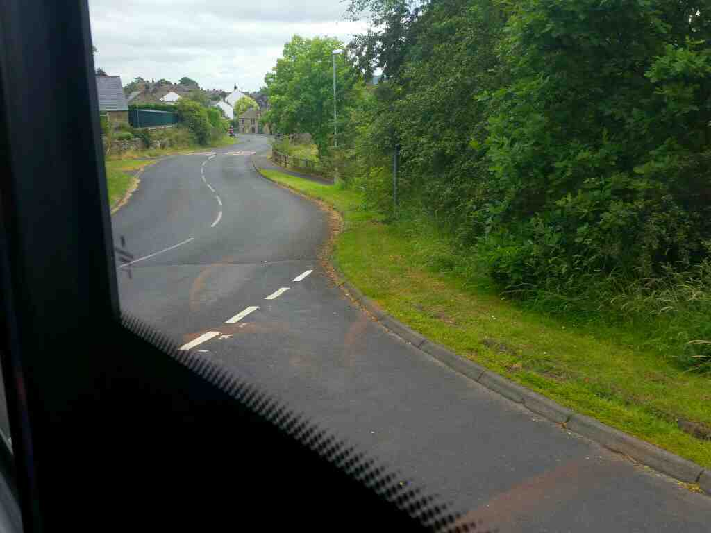 68 east of Henshaw on a 685 Carlisle Newcastle bus