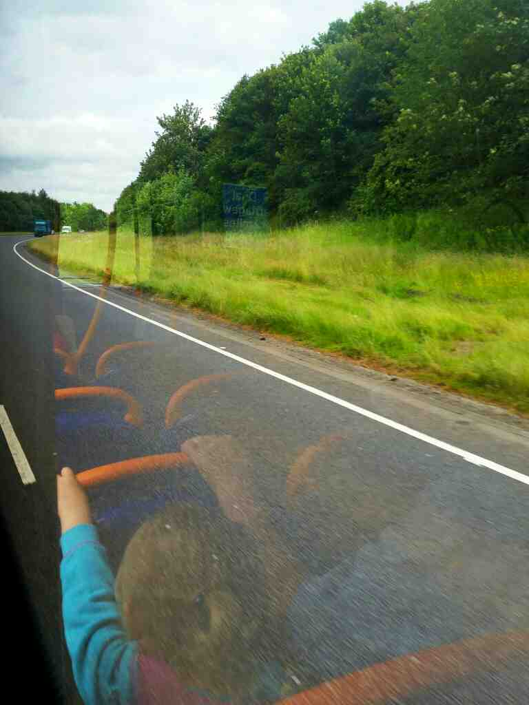 The A69 Newcastle to Carlise Rd on a 685 Carlisle Newcastle bus