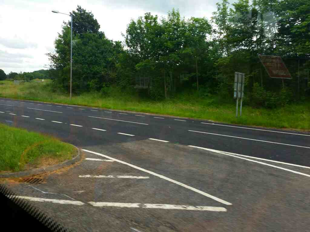 The western end of the Hexham bypass A69 on a 685 Carlisle Newcastle bus