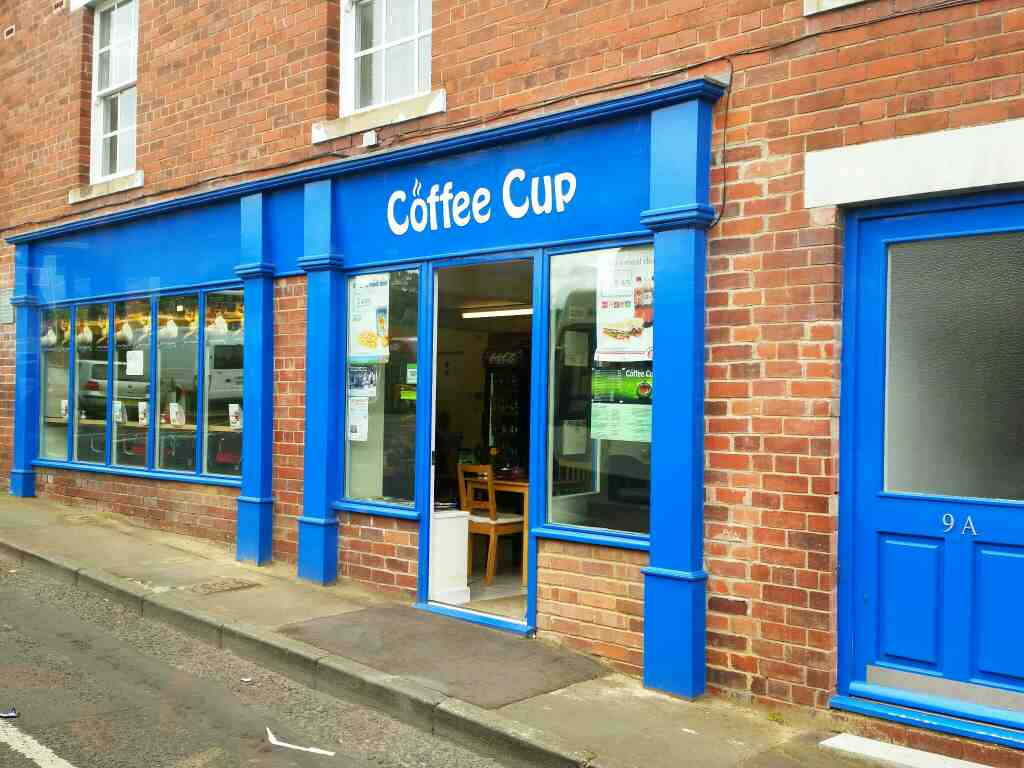 The Coffee Cup Hexham bus station on a 685 Carlisle Newcastle bus