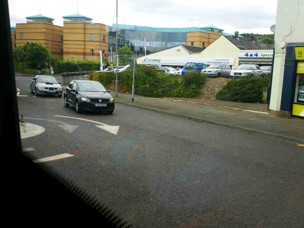 Junction of Preistpopple and the A695 Hexham on a 685 Carlisle Newcastle bus