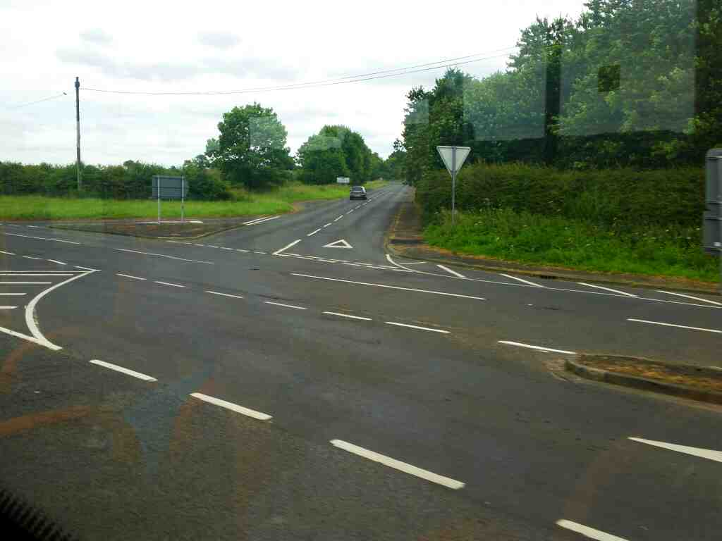 Junction of the A695 and the B6321 Corbridge on a 685 Carlisle Newcastle bus