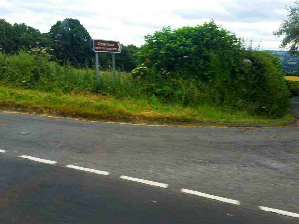 Junction of an unamed road to Close House and the B6528 Heddon On The Wall on a 685 Carlisle Newcastle bus