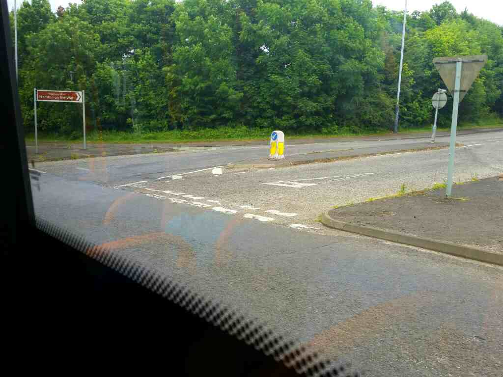 Hexham Rd east of Heddon on the Wall on a 685 Carlisle Newcastle bus