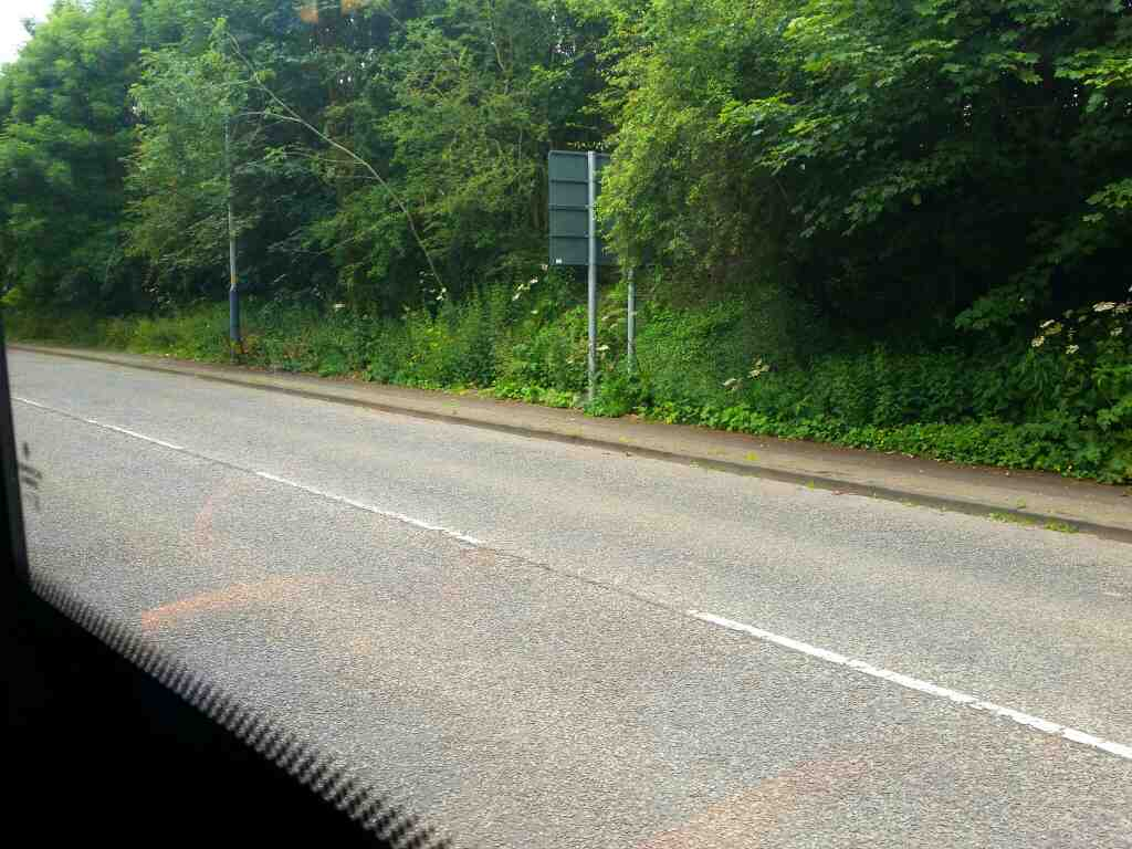 Hexham Rd between Heddon on the Wall and Throckley on a 685 Carlisle Newcastle bus